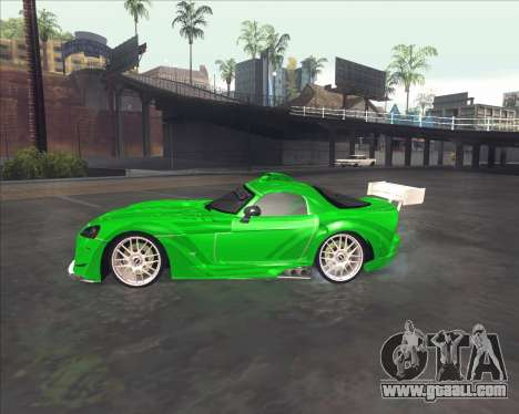 Dodge Viper SRT from NFS MW for GTA San Andreas back left view