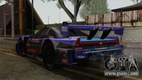 Honda NSX World Grand Prix for GTA San Andreas left view