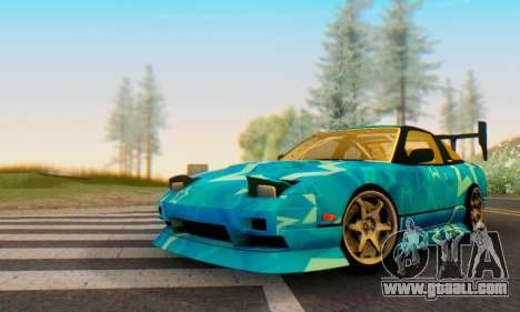 Nissan 240SX Blue Star for GTA San Andreas left view