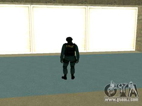 Skin SOBR for GTA San Andreas second screenshot