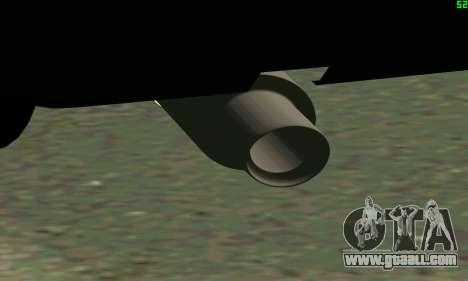 VAZ 2108 Turbo for GTA San Andreas inner view