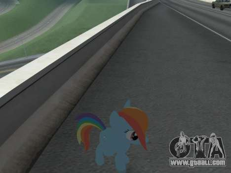 Rainbow Dash for GTA San Andreas sixth screenshot
