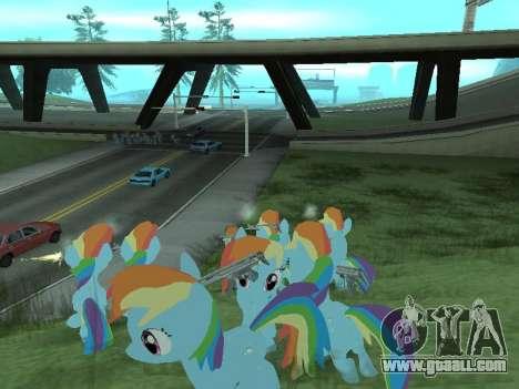 Rainbow Dash for GTA San Andreas ninth screenshot