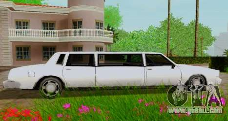 Tahoma Limousine for GTA San Andreas left view