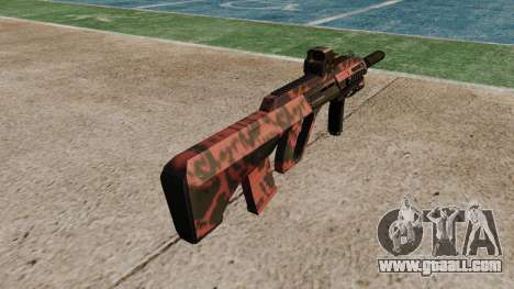 Автомат Steyr AUG-A3 Optic Red tiger for GTA 4 second screenshot