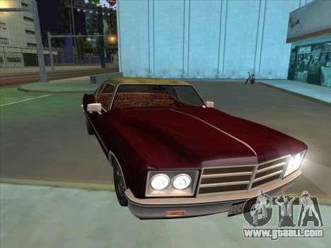 Yardie Lobo from GTA 3 for GTA San Andreas inner view