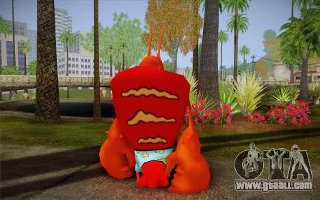 Larry The Lobster (Spongebob) for GTA San Andreas second screenshot