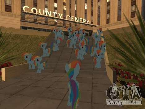 Rainbow Dash for GTA San Andreas fifth screenshot