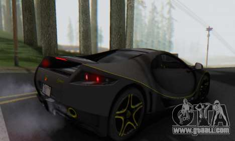 GTA Spano 2014 Carbon Edition for GTA San Andreas left view