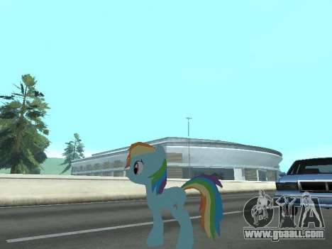 Rainbow Dash for GTA San Andreas seventh screenshot