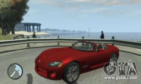 Dodge Viper SRT-10 2003 v2.0 for GTA 4 back left view