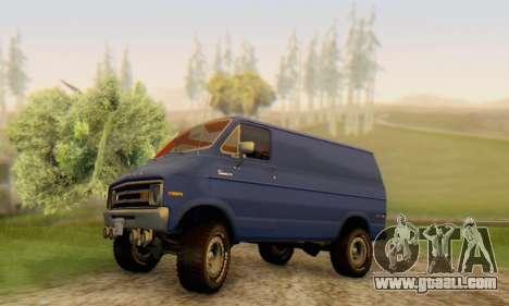 Dodge Tradesman Van 1976 for GTA San Andreas bottom view