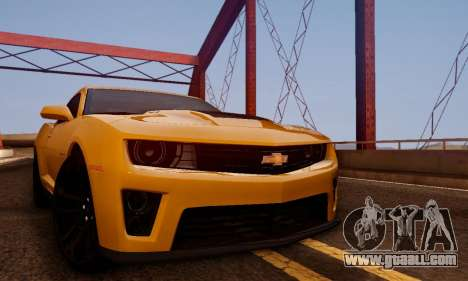 Chevrolet Camaro ZL1 2014 for GTA San Andreas right view
