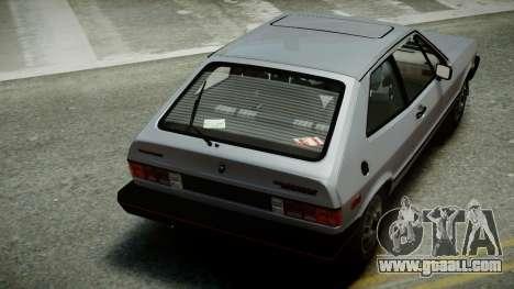 Volkswagen Scirocco S 1981 for GTA 4 inner view