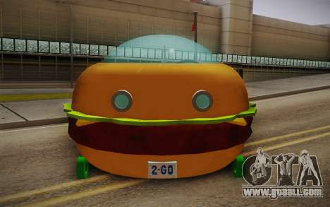 Spongebobs Burger Mobile for GTA San Andreas right view