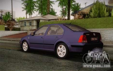 Volkswagen Bora for GTA San Andreas left view