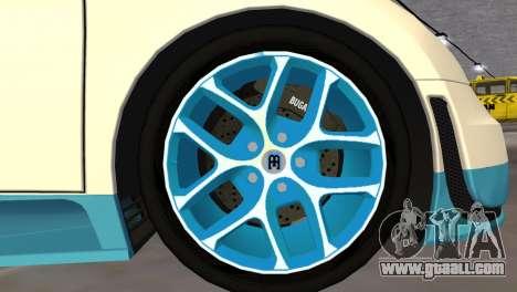 Bugatti Veyron Grand Sport Vitesse for GTA Vice City back view
