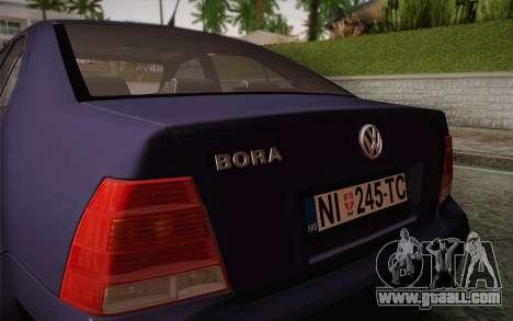 Volkswagen Bora for GTA San Andreas inner view