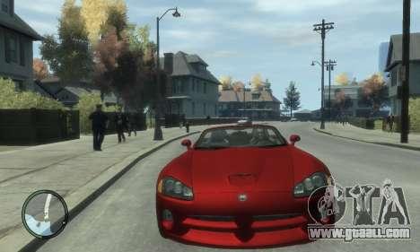 Dodge Viper SRT-10 2003 v2.0 for GTA 4 back view