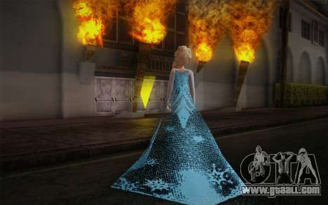 Frozen Elsa for GTA San Andreas second screenshot