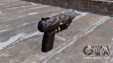 Gun FN Five seveN LAM Blue Camo for GTA 4 second screenshot