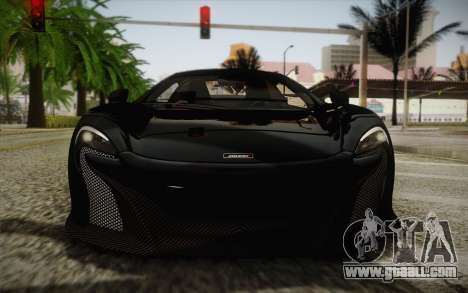 McLaren 650S Spider 2014 for GTA San Andreas side view