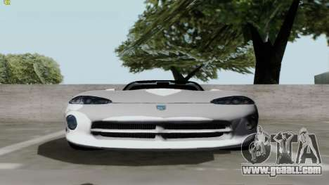 Dodge Viper RT-10 1992 for GTA San Andreas back left view