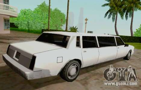 Tahoma Limousine for GTA San Andreas back left view