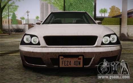 Sultan из GTA 5 for GTA San Andreas inner view