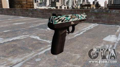 Gun FN Five seveN Aqua Camo for GTA 4 second screenshot