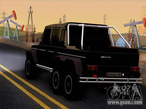 Mercedes-Benz G65 AMG 6X6 for GTA San Andreas back left view