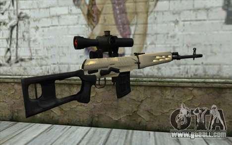 SVD Sniper Rifle for GTA San Andreas second screenshot