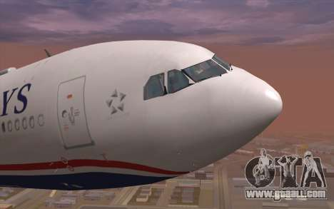 Airbus A330-300 for GTA San Andreas inner view