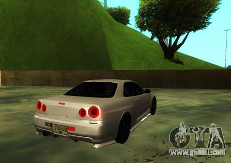 Nissan Skyline R34 V-Spec for GTA San Andreas left view