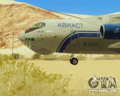 Il-76T AVAST for GTA San Andreas back left view