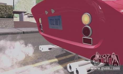 Ferrari 250 GTO 1962 for GTA San Andreas upper view