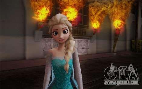 Frozen Elsa for GTA San Andreas third screenshot
