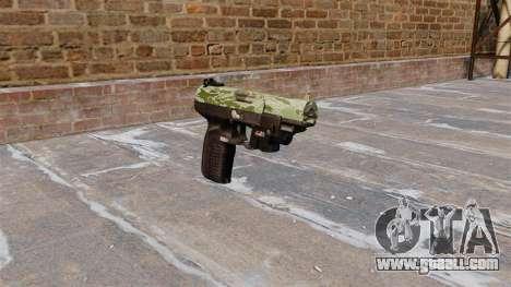 Gun FN Five seveN LAM Green Camo for GTA 4