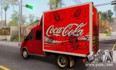33023 GAZelle Coca-Cola for GTA San Andreas left view