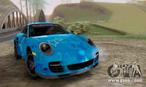 Porsche 911 Turbo Blue Star for GTA San Andreas
