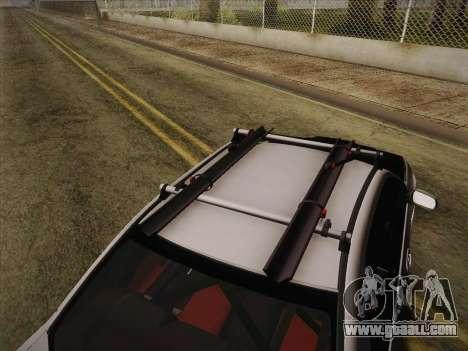 Subaru Impreza Hellaflush for GTA San Andreas back view