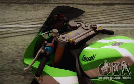 Kawasaki ZX-10R Ninja for GTA San Andreas back view