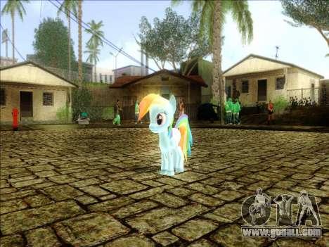 Rainbow Dash for GTA San Andreas