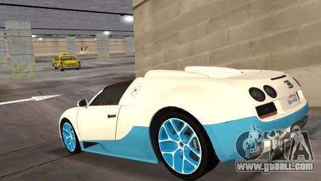Bugatti Veyron Grand Sport Vitesse for GTA Vice City left view