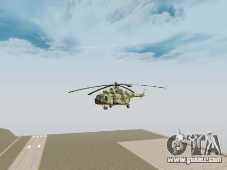 Mi-8T for GTA San Andreas back left view
