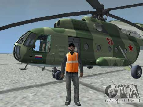 Mi-8T for GTA San Andreas left view