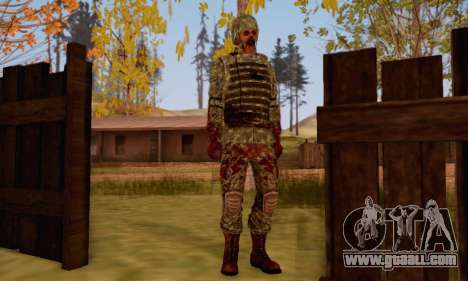 Zombie Soldier for GTA San Andreas