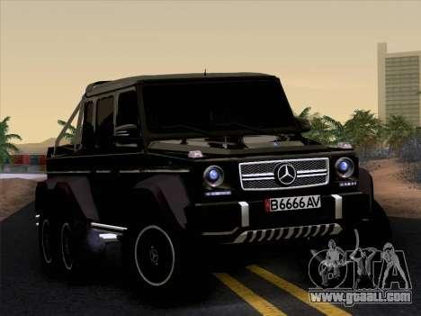 Mercedes-Benz G65 AMG 6X6 for GTA San Andreas