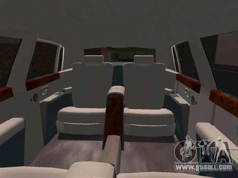 Rolls-Royce Phantom Limo for GTA San Andreas inner view