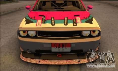 Dodge Challenger SRT8 2012 for GTA San Andreas upper view